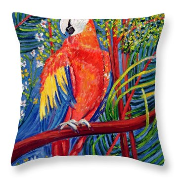 Pretty Polly Throw Pillow