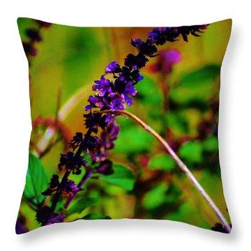 Pretty Purple Plant Throw Pillow