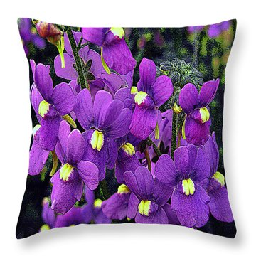 Throw Pillow featuring the photograph Pretty Violets by Merton Allen