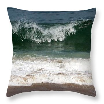 Throw Pillow featuring the photograph Pretty Wave by Eunice Miller