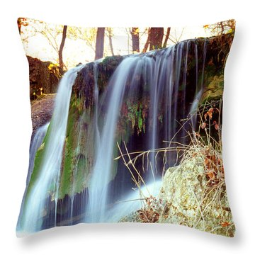 Throw Pillow featuring the photograph Price Falls 5 Of 5 by Jason Politte