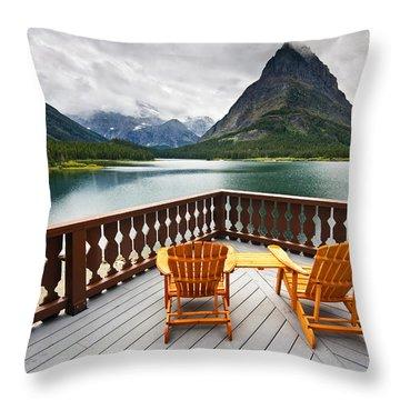 Priceless Glacier View Throw Pillow