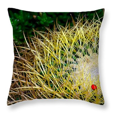 Prickly Throw Pillow by Camille Lopez