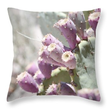 Prickly Pear Cacti Throw Pillow by Andrea Hazel Ihlefeld