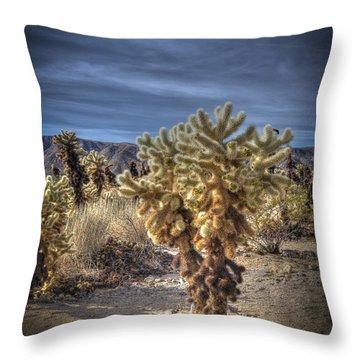 Prickly Pear Cactus Throw Pillow