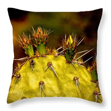 Prickly Pear Spring Throw Pillow