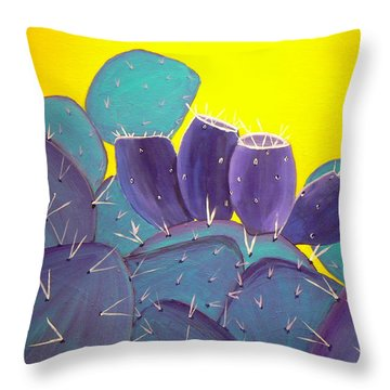 Prickly Pear With Fruit Throw Pillow