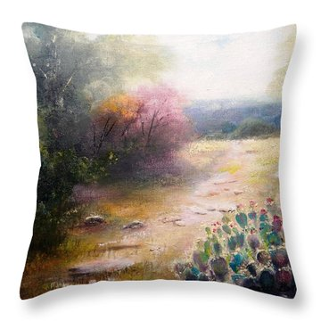 Prickly Pretties Throw Pillow