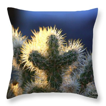 Prickly Sunset Throw Pillow
