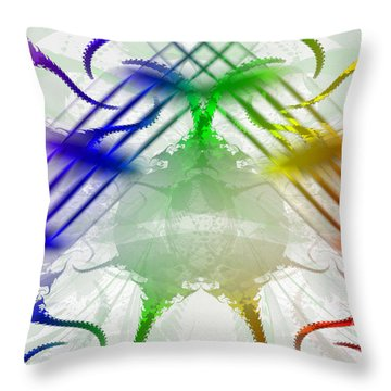 Throw Pillow featuring the digital art Pride Around The World by Melissa Messick