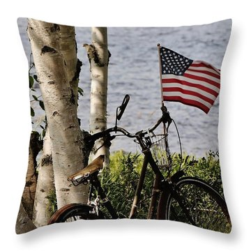 Pride Ride Throw Pillow