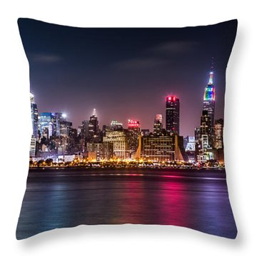 Pride Weekend Panorama Throw Pillow