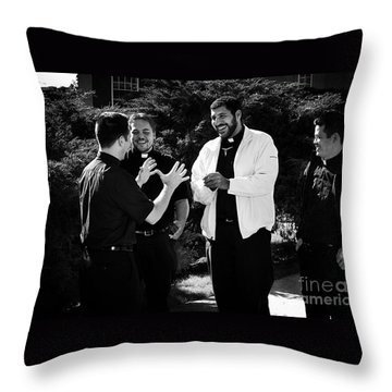 Priest Camaraderie Throw Pillow