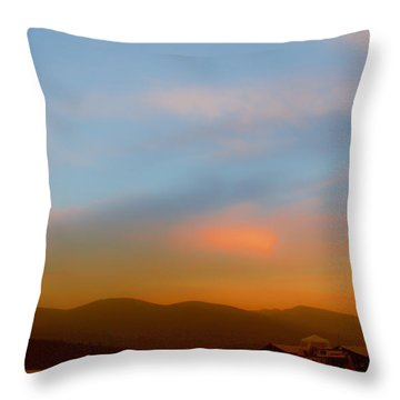 Priest Lake At Dusk Throw Pillow by David Patterson