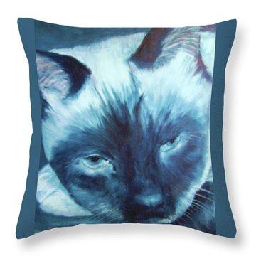 Prima Donna, Cat Throw Pillow