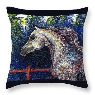 Primarily Arabian Throw Pillow