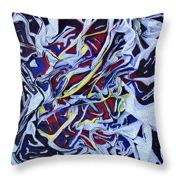 Primary Abstract Throw Pillow