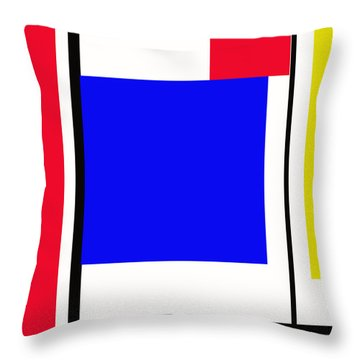 Primary Abstract Motivational Throw Pillow by Tom Gari Gallery-Three-Photography