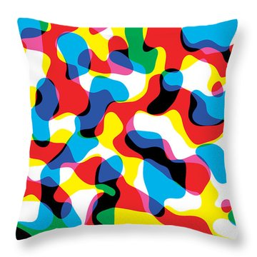 Primary Alsorts Throw Pillow