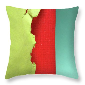 Primary Throw Pillow by CML Brown