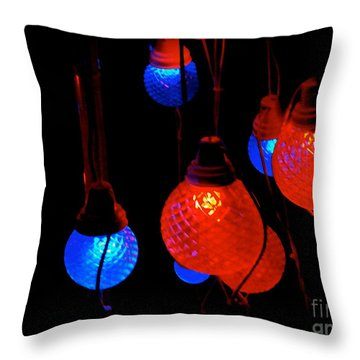 Primary Lights Throw Pillow by Cathy Dee Janes