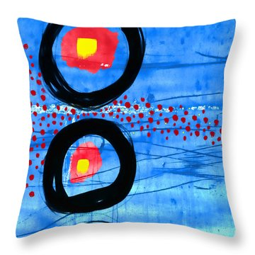 Primary Movement - Square Throw Pillow by Carol Leigh