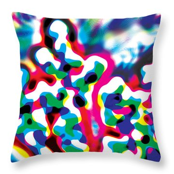 Primary Ripples Start Throw Pillow