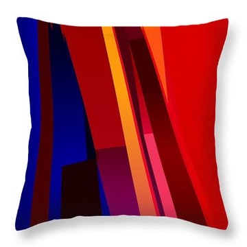 Primary Skyscrappers Throw Pillow by James Kramer