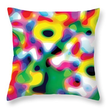Primary Soft Centres Throw Pillow