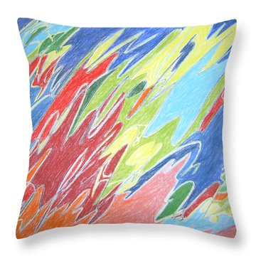 Primeval Yearnings Throw Pillow by Esther Newman-Cohen