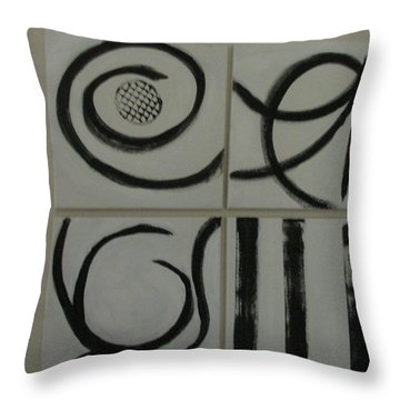 Primitive Asian Throw Pillow