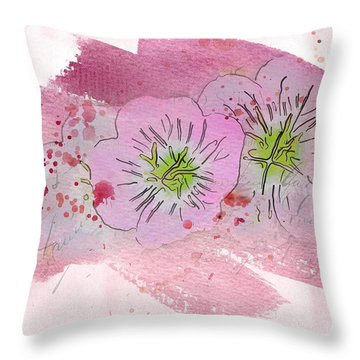 Primroses Throw Pillow