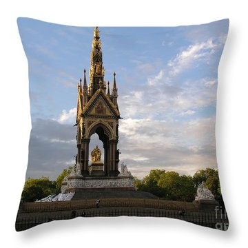 Prince Albert Memorial Throw Pillow by Bev Conover