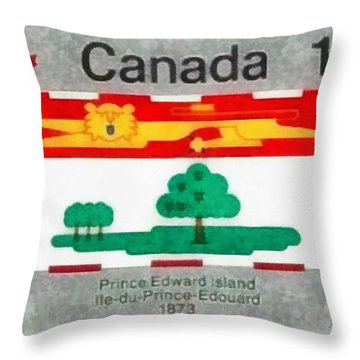 Throw Pillow featuring the painting Prince Edward Island by Mario Carini