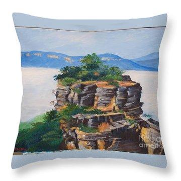 Prince Henry Cliff Australia Throw Pillow