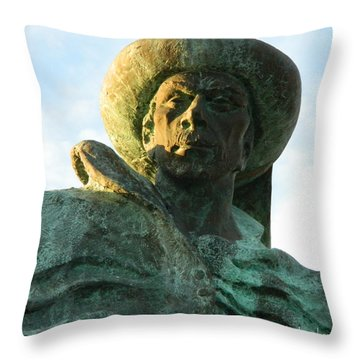 Throw Pillow featuring the photograph Prince Henry The Navigator by Kathy Barney