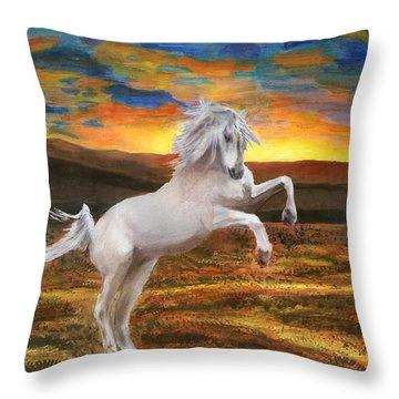 Prince Of The Fiery Plains Throw Pillow by Peter Piatt