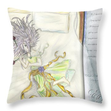 Throw Pillow featuring the painting Princess Altiana Aka Rokeisha by Shawn Dall