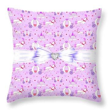 Princess Celebration Throw Pillow by Debra  Miller