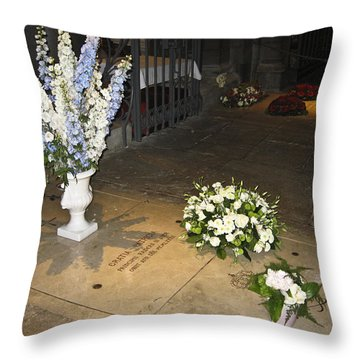 Throw Pillow featuring the photograph Princess Grace Tomb by Allen Sheffield