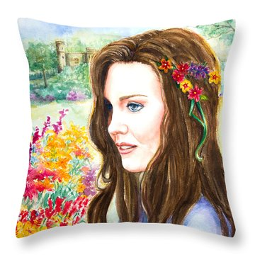 Princess Kate Throw Pillow by Patricia Allingham Carlson