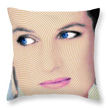 Princess Lady Diana Throw Pillow by Tony Rubino