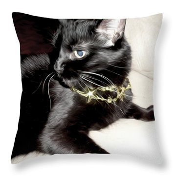 Throw Pillow featuring the photograph Princess Lucy by Pennie  McCracken