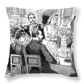 Princess Marie Of Orl�ans (1865-1909) Throw Pillow