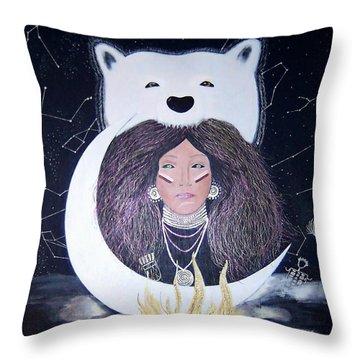 Princess Moon Throw Pillow