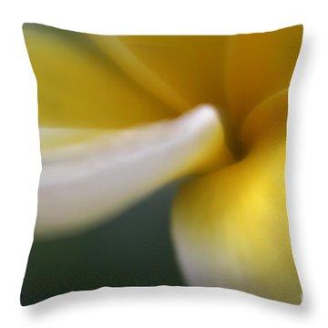 Throw Pillow featuring the photograph Princess Plumeria by Mary Lou Chmura