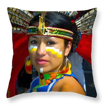 Princess Red Feather Close Up Throw Pillow