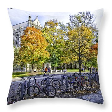 Princeton University Campus Throw Pillow