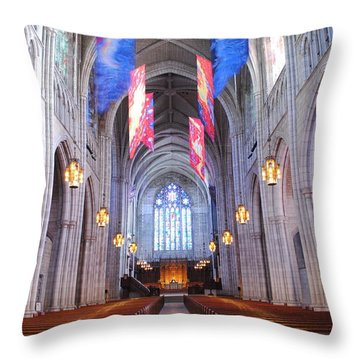 Princeton University Chapel Throw Pillow