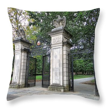 Princeton University Main Gate Throw Pillow